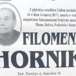 Zmarła Filomena Hornik z ul. Kościelnej