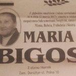 Zmarła Maria Bigos z ul. Polnej