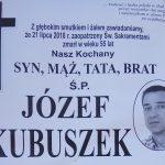 Zmarł Józef Kubuszek z ul. Słonecznej