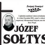 Zmarł Józef Sołtys z ul. Długiej
