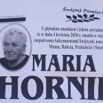 Zmarła Maria Hornik z ul. Długiej