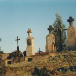 Cmentarz i klasztor sprzed lat