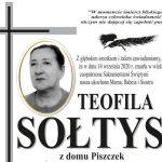Zmarła Teofila Sołtys z ul. Pienińskiej