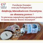 """Fundacja """"Dunajec"""" gratuluje nam Wielkich Serc!"""